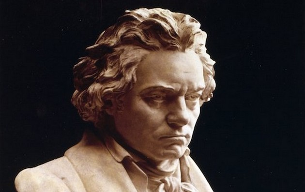 The statue of Beethoven